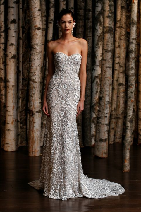 Strapless Naeem Khan wedding dress