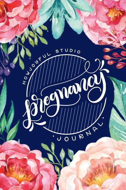 Keep track of your pregnancy with this lovely hand-lettered journal