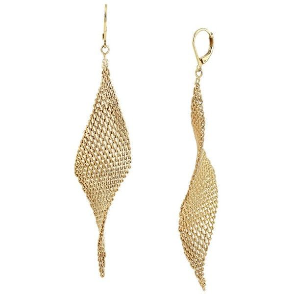 Kenneth Cole New York Jeweled Elements -Tone Mesh Drop Earrings (£29) ❤ liked on Polyvore featuring jewelry, earrings, gold, polish jewelry, jewel earrings, mesh earrings, gold tone drop earrings and jewels jewelry