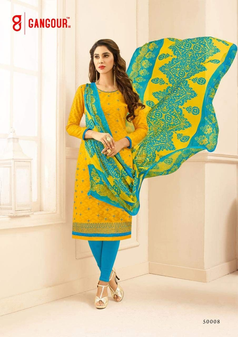 404b91f0a6 Shree Ganesh Retail Womens Cotton Jacquard Churidar Salwar Kameez  Unstitched Dress Material (50008 YELLOW): Amazon.in: Clothing & Accessories
