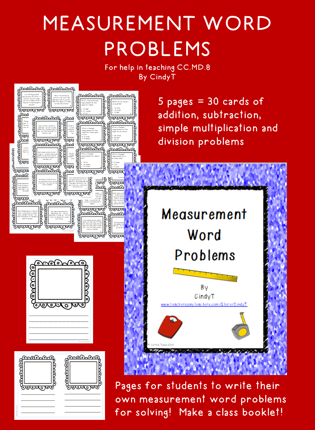 Measurement Word Problems To Help In Teaching 2 8