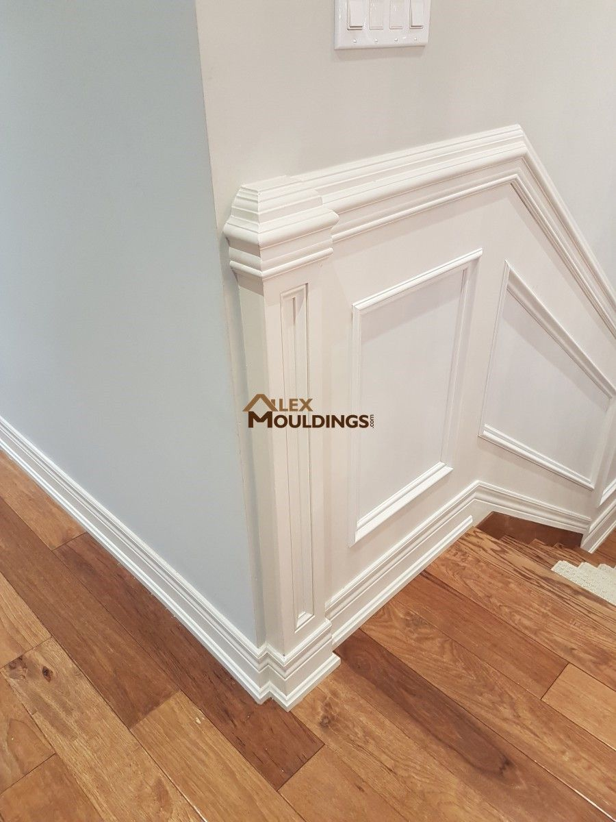 Wainscoting with added details house appliances in