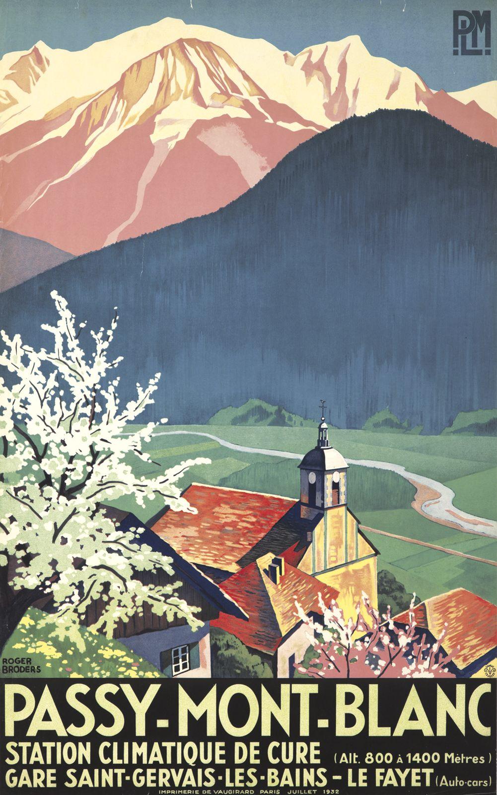 france passy mont blanc 1932 roger broders montagne affiches pinterest vintage poster. Black Bedroom Furniture Sets. Home Design Ideas