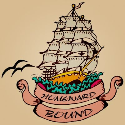 Full-rigged Ship Tattoo with Banner
