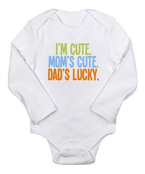 If this baby could talk, laughter would ring through the rafters. This clever, all-cotton bodysuit will keep houseguests in hysterics. Done for the day? Just toss the garment into the washing machine.