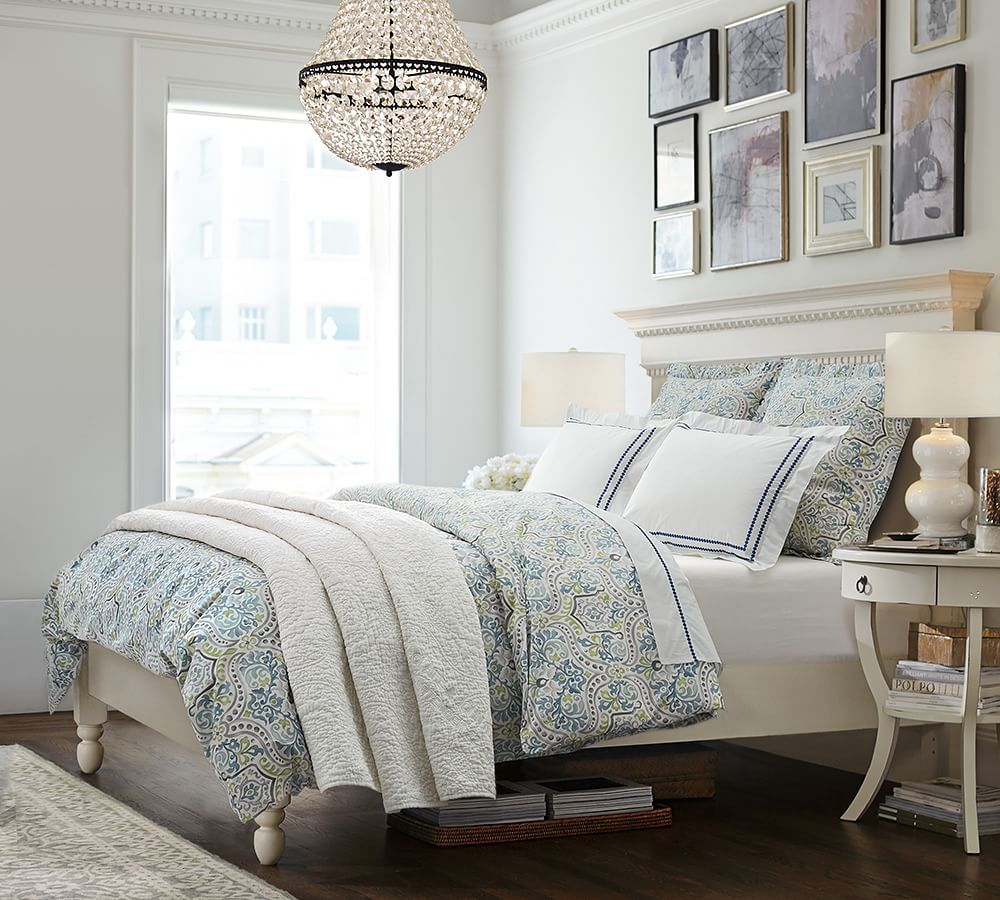 Master Bedroom · Mia Faceted Crystal Chandelier | Pottery Barn