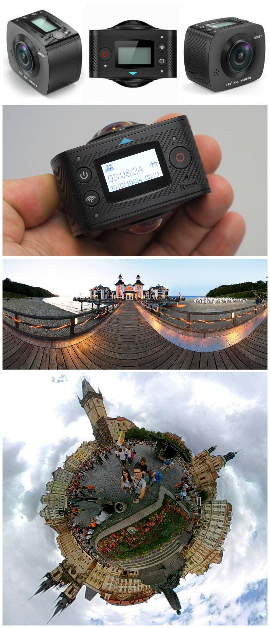 Elephone Elecam 360 WiFi Action Camera Dual Lens - $154 84 Free