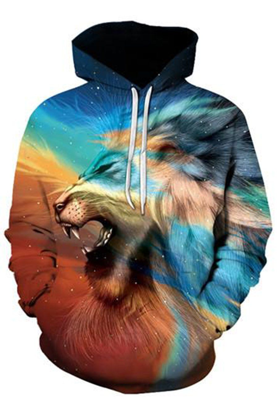 Lion 3D Hooded Sweater in 2018   Wish List   Pinterest   Sweat homme ... f87c85000db