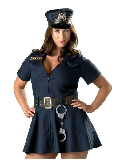 Sexy Officer Naughty Cop Police Plus Size Womens Costume ...