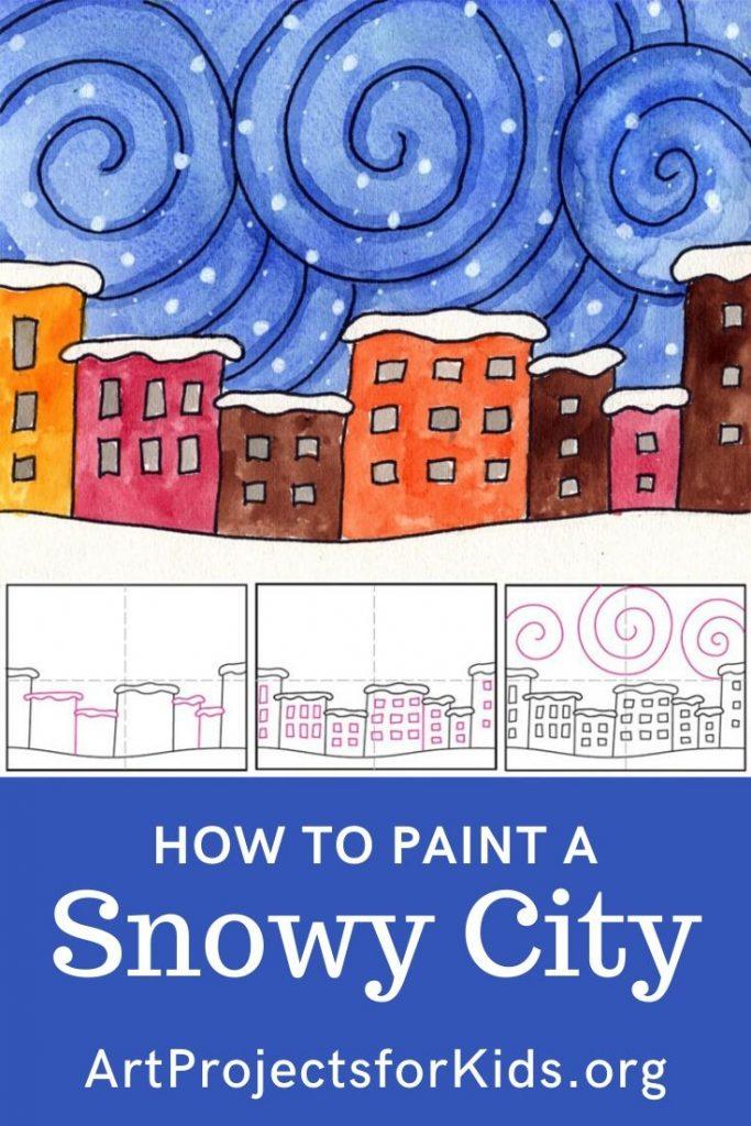 Comment peindre une ville enneigée