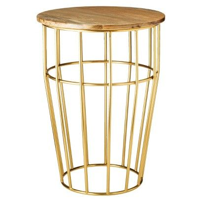 Threshold™ Nautical Brass Cage Accent Table : Target - Interior Design On A Budget: Under $100: Target Threshold