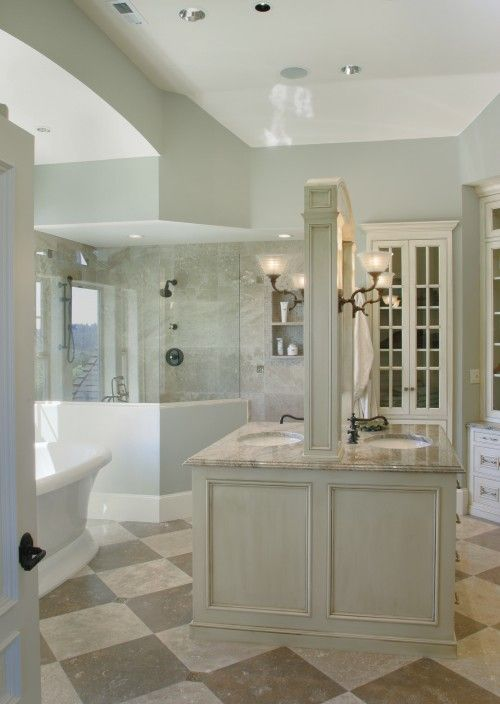 Unique Bathroom Love The Back To Back Vanities Traditional