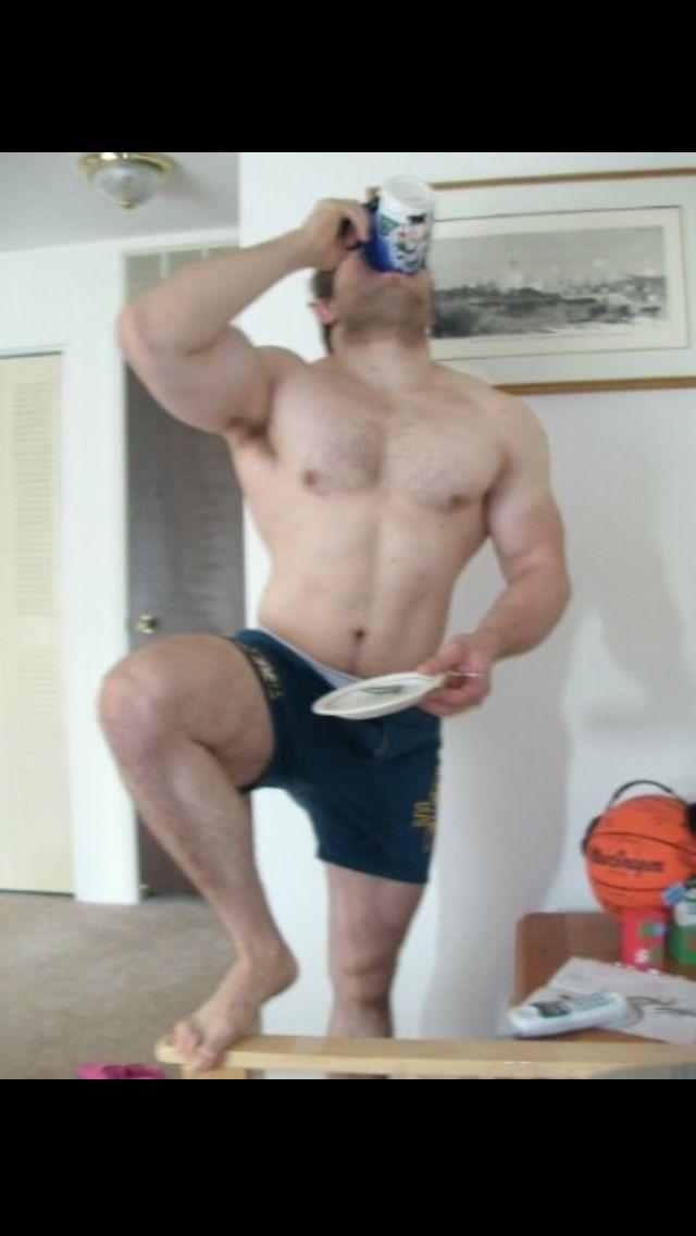 Muscle frat guy