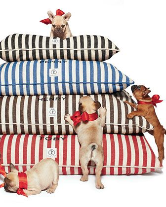 The gifts of Good Cheer, Love and Joy, all for you and yours!!!! #HorchowHoliday14 Personalized Vintage-Inspired Dog Bed by Harry Barker at Horchow.