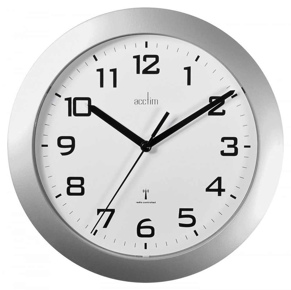 Seemly Office Wall Clocks Cabinet Office Wall Clock Radio Controlled Auto Set Split Second Plasticsilver Office Radio Controlled Wall Clock Home Auto Sets Split Decorative Wall Clocks Office Reception