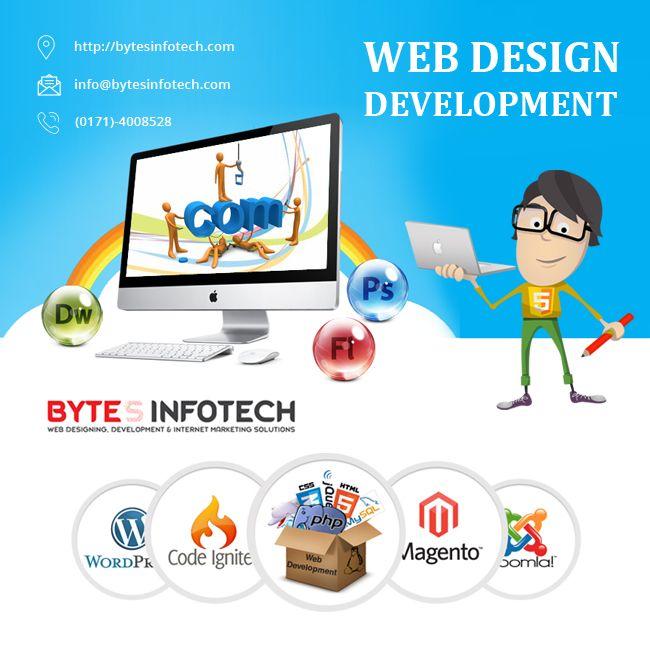 Www Bytesinfotech Com Is A Web Design Company Specialising In Web Design Web Development Seo And Online Marketi Web Design Quotes Web Design Free Web Design