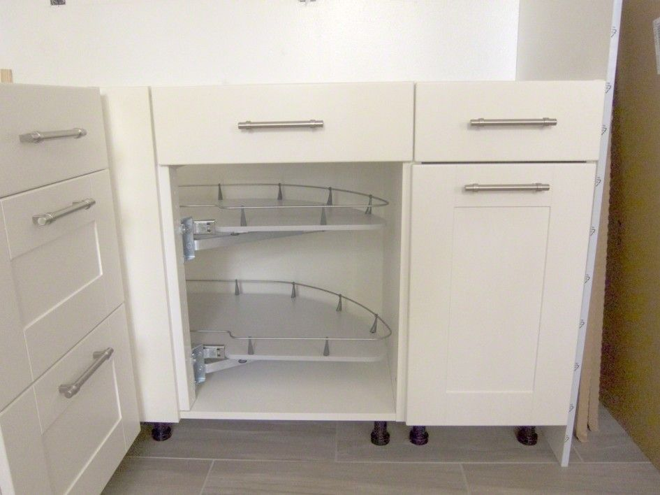 Breathtaking Base Corner Pull Out Cabinet With Half Moon