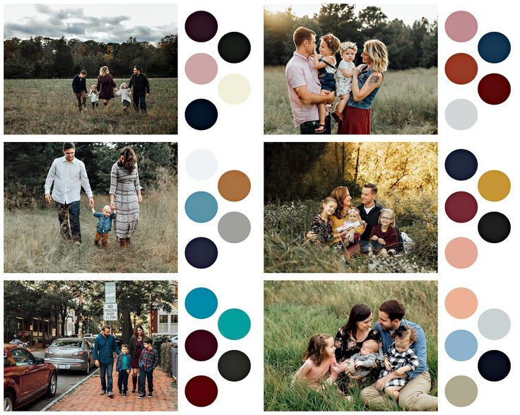 What to wear for family photos: color choices.  By Winnie Bruce Photography  www.winniebrucephotography.com #familyphotooutfits