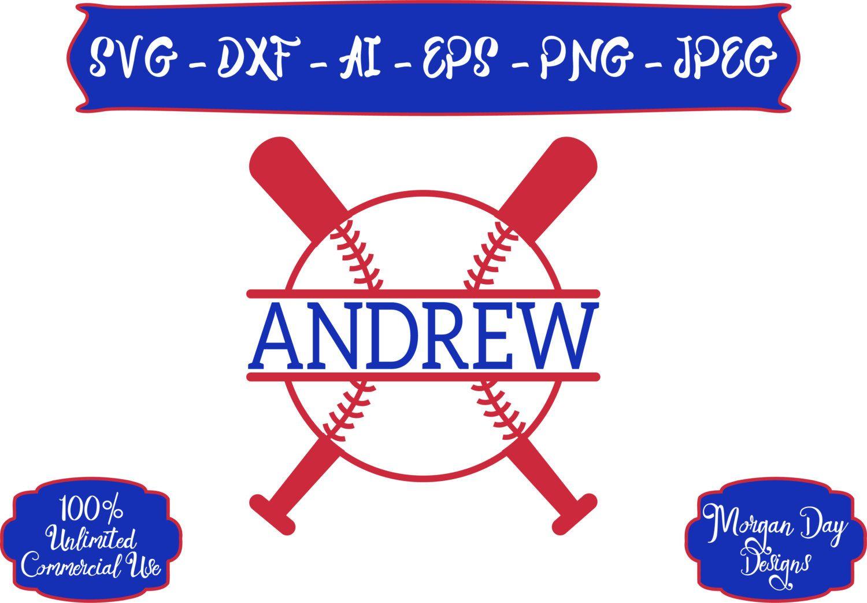 Baseball SVG - Personalized Baseball SVG - Baseball SVG - Sports svg - Sports Ball svg - Files for Silhouette Studio/Cricut Design Space by MorganDayDesigns on Etsy