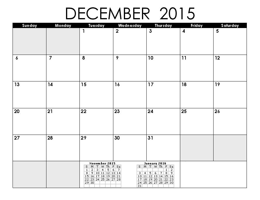 Blank Calendar Pages  December  Calendar    Blank