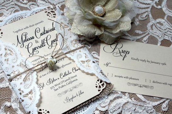 17 bedste billeder om Rustic country wedding invitations p – Rustic Lace Wedding Invitations