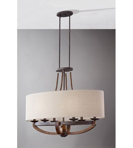 Murray Feiss El Nido: Feiss Adan 6 Light Linear Chandelier In Rustic Iron And