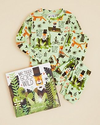 "A Gift for the Animal Lover... A great gift for your little one, these cozy pajamas feature an all-over ""Mr. Tiger Goes Wild"" print and come with a corresponding hardcover book for a bedtime routine with a theme. Get yours! Free shipping through 12/22/15."