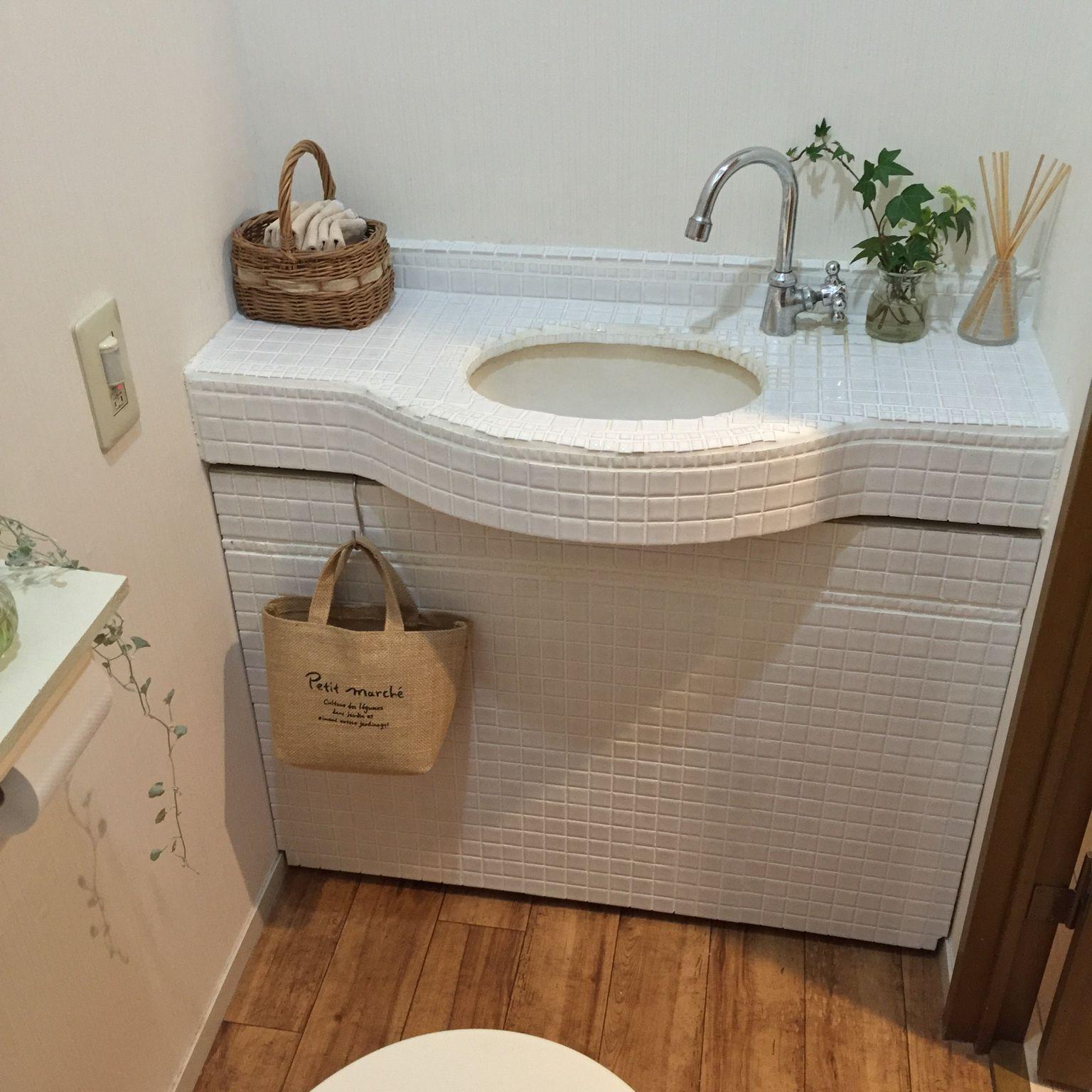 バス トイレ モザイクタイル トイレ Diyのインテリア実例 2016 03 14