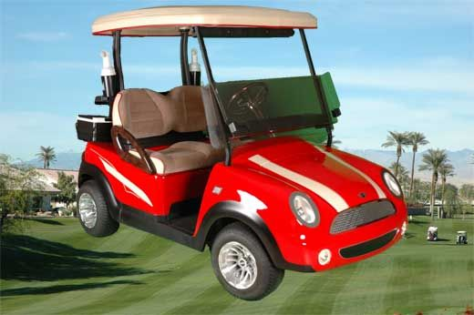 Fairway Golf Cars Red Mini Cooper Cooper Nation Pinterest