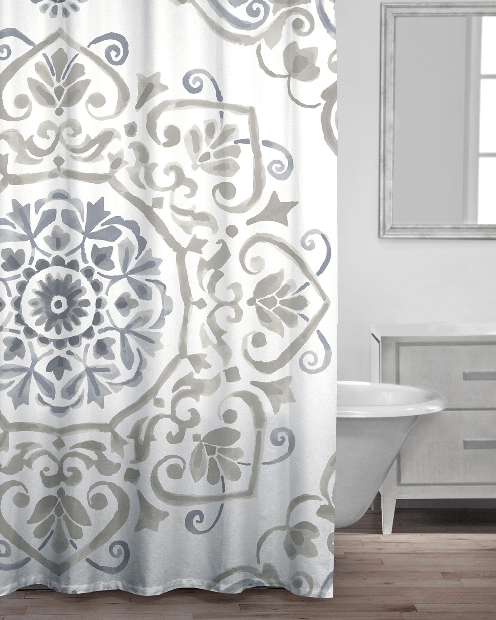 Neutral Bailey Shower Curtain Curtains Neutral Home