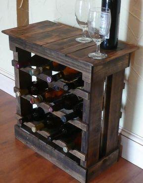 Reclaimed Wood Wine Storage Cabinet Wijnrek Pallet Planken