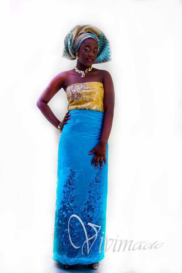Vivimade Creationz: Blue Asoebi : Nigerian wedding guest outfits
