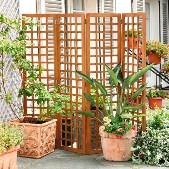 SichtschutzFaltparavent von Gärtner Pötschke Balkon
