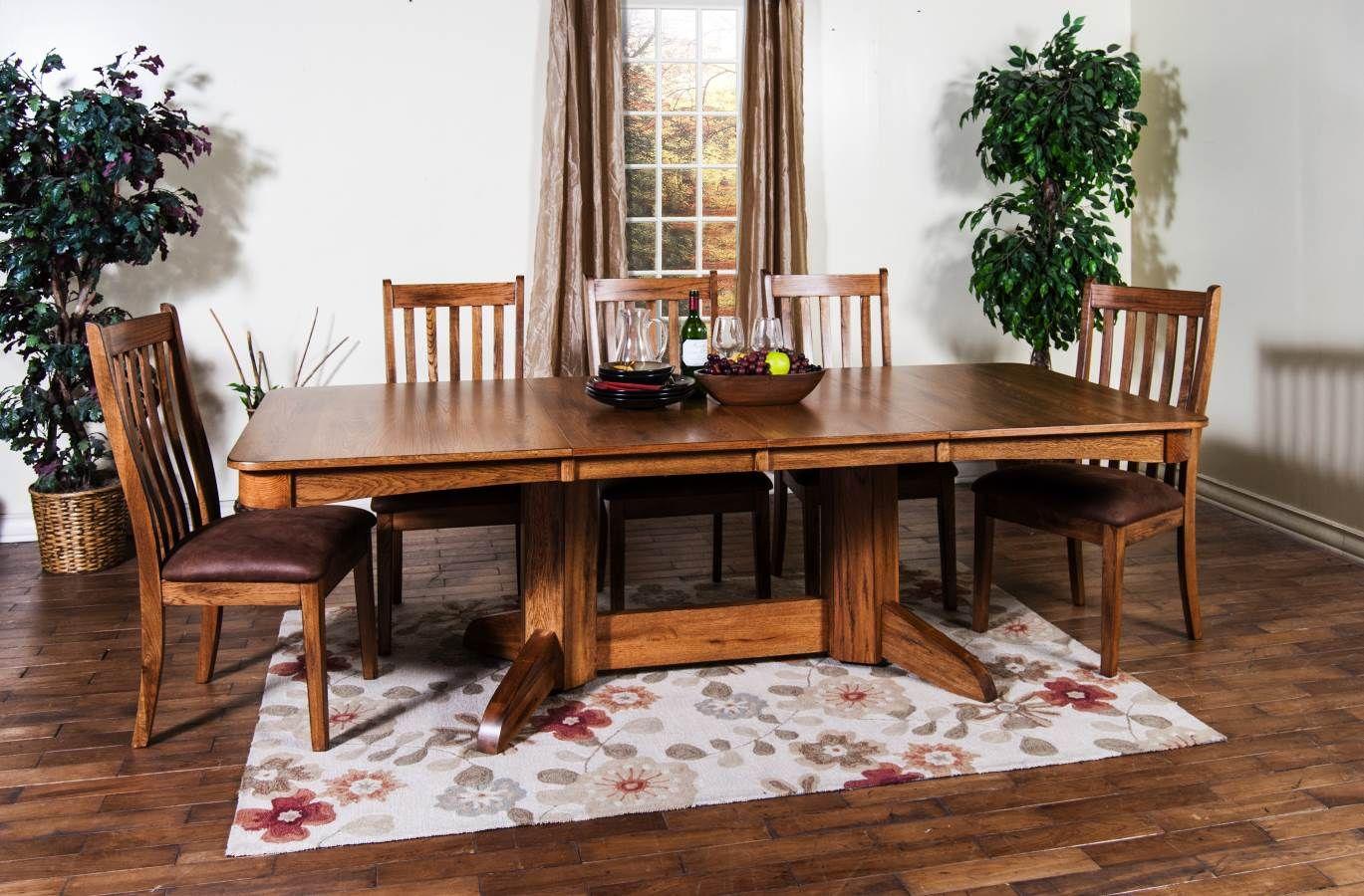 Sedona Rustic Oak Wood Formal Dining Room Set 1121ro Dr