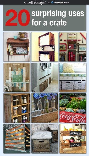 Dwell Beautiful curates a board for Hometalk featuring 20 amazing, unique, and creative ways to use crates for craft and home decor projects!