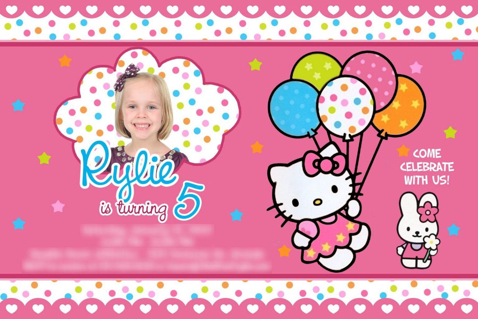 Hello Kitty Birthday Party Ideas Invitations Dress Inside Hello Kitty Ba In 2020 Hello Kitty Birthday Party Hello Kitty Invitations Hello Kitty Birthday Invitations