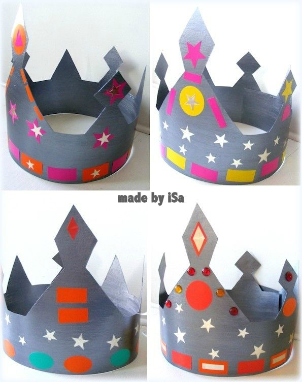 Couronnes rois made by isa pinteres - Couronne epiphanie maternelle ...