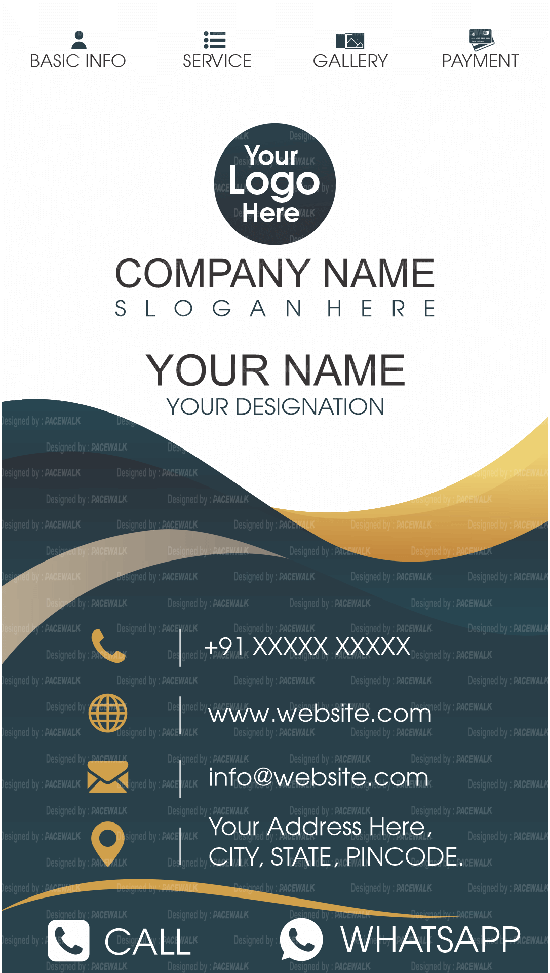 Free Templates For Digital Business Cards Mycarda Digital Business Card Business Card App Business Card Maker