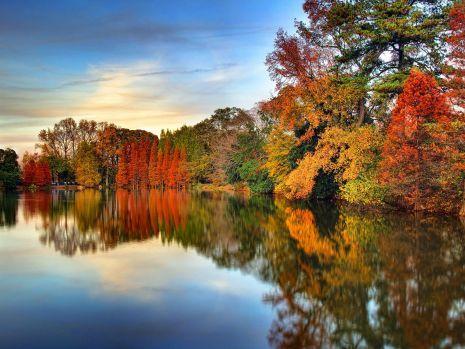 foto de Automne sur le Lac Clara Meer - Atlanta   Fond ecran automne ...