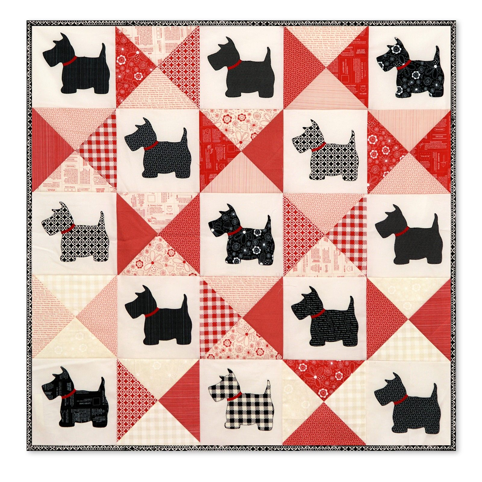 Fat Quarter Scottie Dogs Print 100/% Craft Cotton Quilting Fabric Appliques  UK