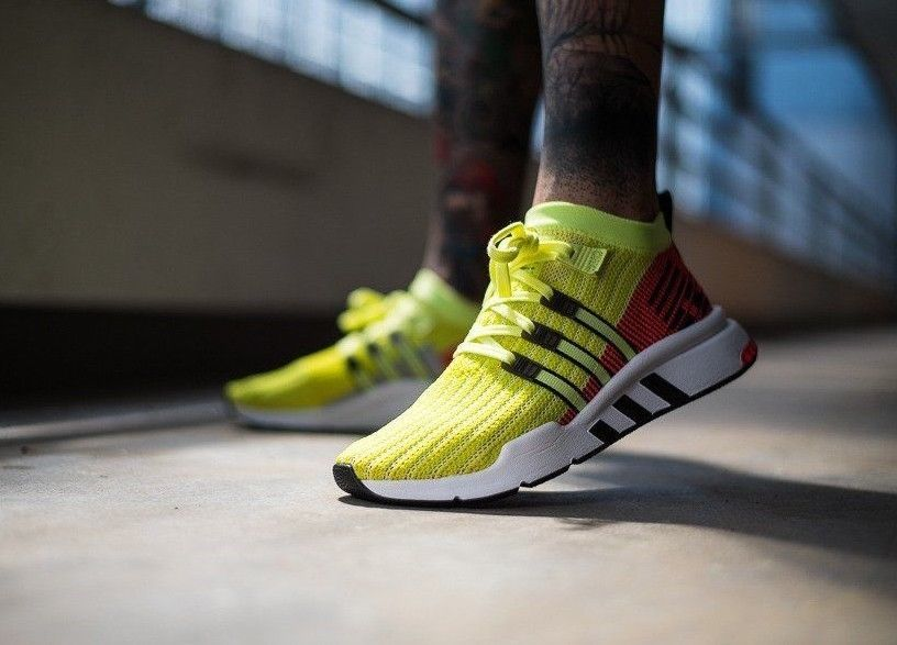 newest 65c29 98ec5 adidas EQT Support Mid ADV PK  Glow Turbo Exclusive  Mens Trainers  B37436 adidas RunningShoes