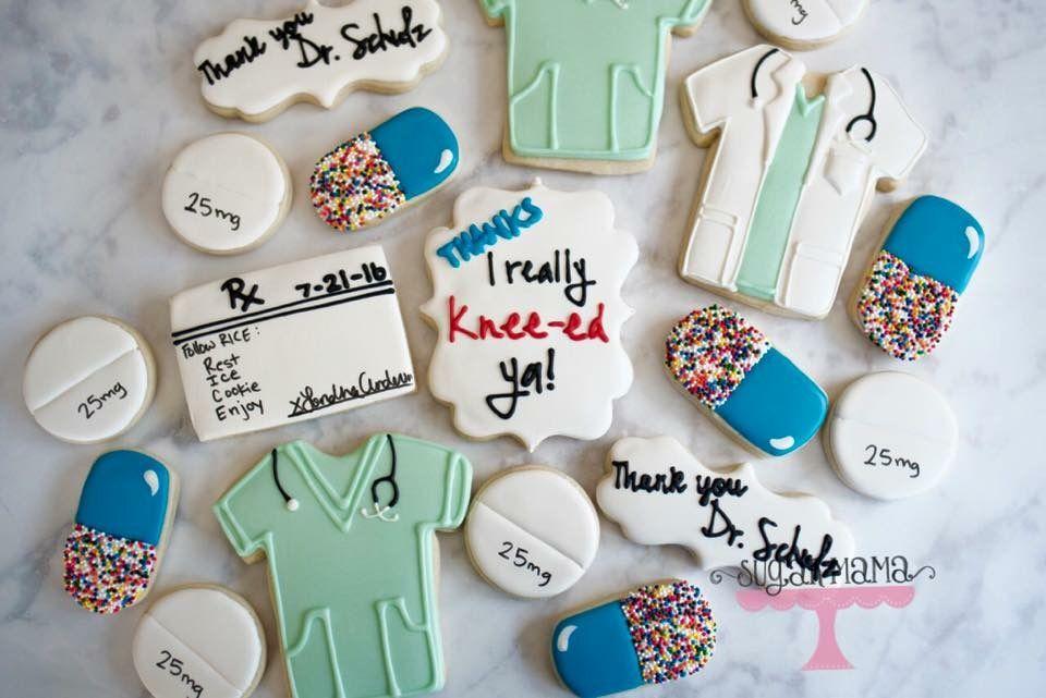 Cookies. Sugar cookies. Decorated cookies. Dr and nurse cookies. Scrub cookies