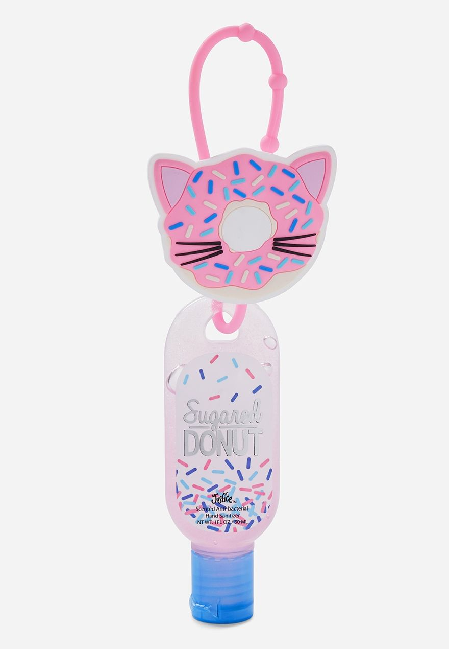 Claire S Bedazzled Donut Holder With Anti Bacterial Hand Sanitizer