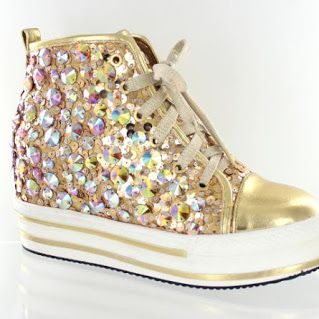 Bling Tennis Shoes | Bling Shoes #blingtennisshoes #blingshoes #blingpageantshoes #lmbling