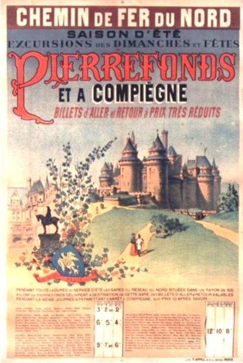 1890 Pierrefonds 01 Affiches Francaises Affiches Anciennes Paris Ile De France