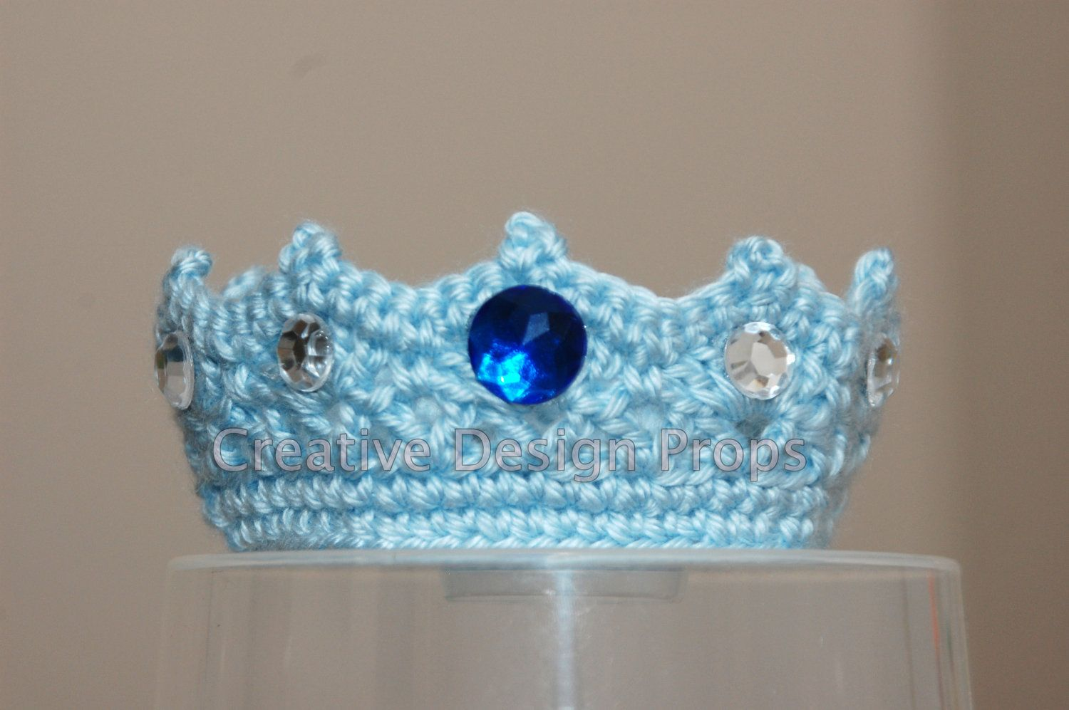 Crochet NEWBORN Baby Boy Girl Prince Princess Crown gift Photo Prop Handmade