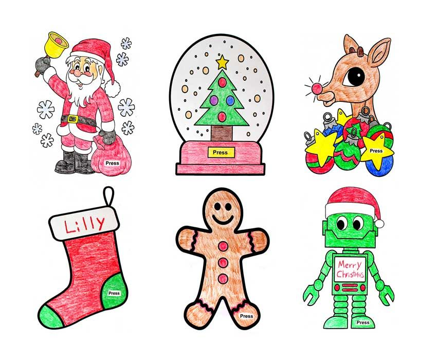 make christmas light up cards  6 free templates  paper