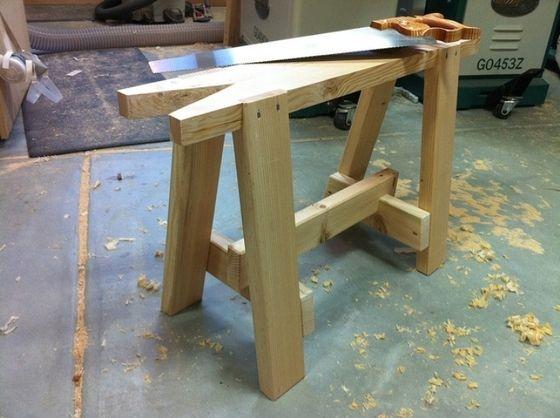 How To Build A Sawhorse Bob Vila Sawhorse Plans And