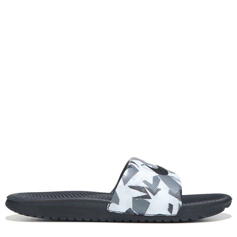 ab8893a7f540 Nike Men s Kawa Slide Print Sandals (Grey White Black) - 13.0 M