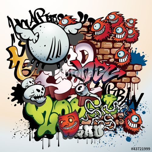 Vector: Graffiti Urban Art Elements